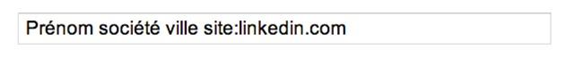 ma recherche sur linkedin.com